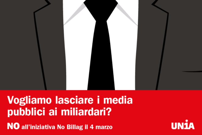 Kampagna NO all'iniziativa «No Billag»!