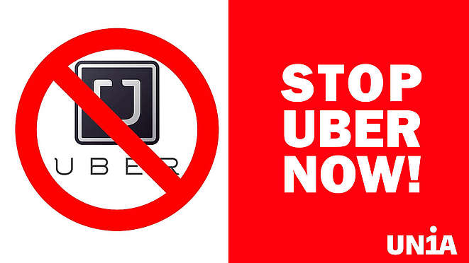 Logo «Stop Uber now»